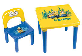 preschool table. Minions My First Activity Childrens Table And Chair/Official Preschool Childs Desk Chair, Age 3+, Bob/Kevin/Stuart \u0027Le Buddies\u0027 Furniture Set,