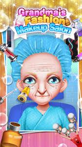 grandma s fashion makeup salon makeover dressup spa games free