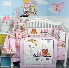 Amazon SoHo Pink Dancing Owl Baby Crib Nursery Bedding Set