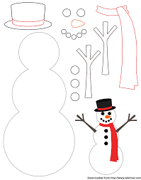 Template Of A Snowman Snowman Template Wikihow