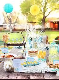 Outdoor Table Decor Charming Outdoor Easter Brunch Table Decor Blue Paper Lampions