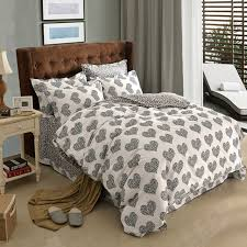 black and white polka dot heart colorful plaid geometric bedding set queen king size duvet cover