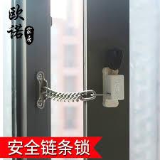 stainless steel chain lock glass sliding door sliding sash casement security lock child safety lock limit in on alibaba com