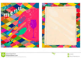 blank menu template free download blank menu card stock vector illustration of invite 22159231