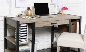 Office computer table design Rectangular Best Office Furniture For Small Spaces Overstock Best Pieces Of Office Furniture For Small Spaces Overstockcom