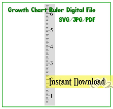 Growth Chart Who Pdf Growth Chart Ruler Stencil File Svg Jpg Pdf Cut File Instant Download Perfect For Vinyl And Stencils Centered Numbers