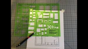 Interior Design Drafting Templates Manual Drafting Using A Furniture Template