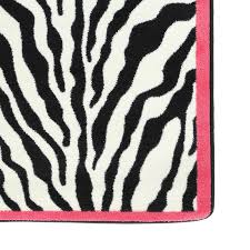 pink and black rug. Zebra Glam Pink Passion Black/White Area Rug And Black