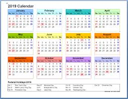 Welcoming New Year With 12 Month Calendar 2019 1770