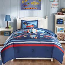space scout kids comforter set twin standard sham boys bedroom decor blue