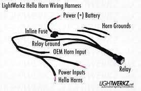 wiring harness for motorcycle horns wiring diagram and hernes wolo motorcycle horn wiring kit 561 126 j p cycles
