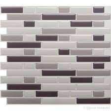 white grey marble mosaic l and stick wall tile self adhesive backsplash diy kitchen bathroom home wall decal vinyl 3d pack of e stickers for wall