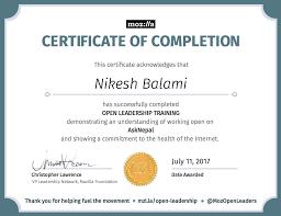 Certificate – Nikesh Balami