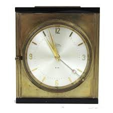 cyma amic 8 15 vintage brass desk clock