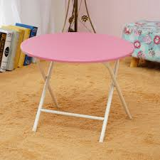 table home dining table round small table small portable table simple portable casual small table pink single table round diameter 60cm high 47 to 51cm