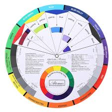 Purchased Color Wheel Tattoo Pigment Color Wheel Chart Color Mix Guide Supplies