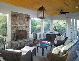 rustic fireplace screens with pellet freest anding stoves porch traditional and pine ceiling