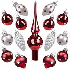 Art Beauty Weihnachtskugeln Mini Christbaumschmuck Glas 3cm Weihnachtsbaum Ornamente Ball Mit Topper 15 Stück Tisch Herzstück Dekorationen Für