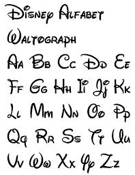 Disney Diy Letras Caligrafía E Letra Bonita