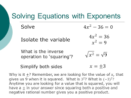 solving equations with exponents