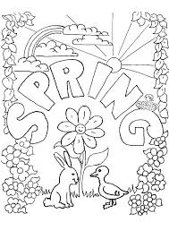 Spring Coloring Pages For Adults Free Printable Spring Coloring