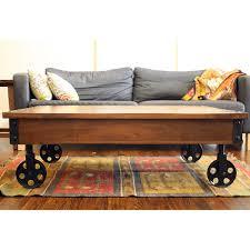 coffee table timbergirl reclaimed wood industrial cart wheels coffee table rustic coffee table with wheels