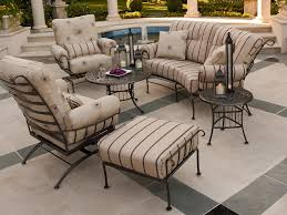 Wrought Iron Chair Cushions Modern Wrought Iron Outdoor Furniture