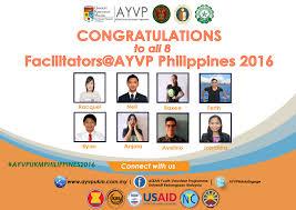 Congratulations Poster Congratulations To Facilitators Ayvp Philippines 2016