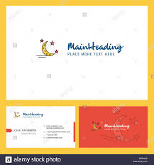 Front Logo Design Crescent And Stars Logo Design With Tagline Front And Back