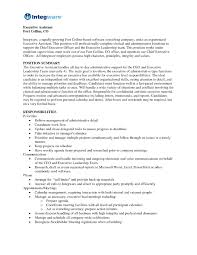 Executive Assistant Resume Format Resume Cv Executive Administrative Assistant Resume Format 11