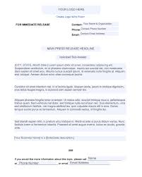 Business Press Release Template How To Write A Press Release In 10 Steps Free Template