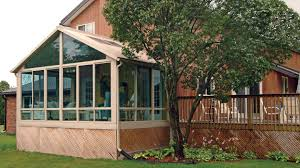 sunroom with gable roof picture