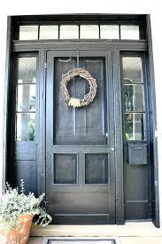 painting a front door screen for front door repaint front door black add old school wood painting a front door