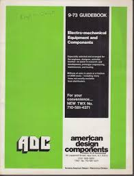American Design Components Adc American Design Components Electromechanical Equipment