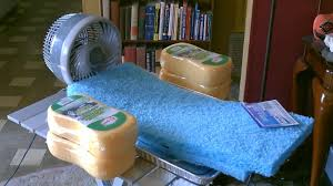 homemade sponge humidifier air cooler diy fan forced evap cooler humidifier you