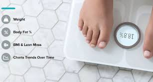 Fitbit Lean Vs Fat Chart Fitbit Aria 2 Wifi Smart Scale Connected Crib