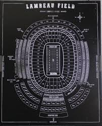 Lambeau Field Print Black Basement Football Stadiums