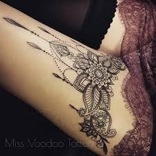 Tetování Na Stehno Mandala