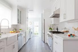 white galley kitchens.  White Galley Kitchen All White Homepolish Erin Kane Intended Kitchens D