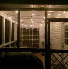 string lights for the screened porch