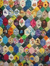 252 best Fiber Crafts: Rose Star and Hexagon quilts images on ... & Elongated hexagons and squares. Some fussy cutting. Adamdwight.com