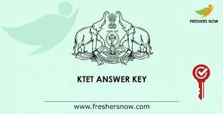 KTET Answer Key 2019 PDF Released | Kerala TET Answer Key