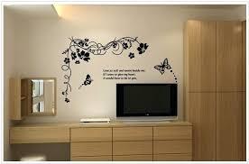 wall decal erfly erfly wall art sticker flower fl wall decal erfly vine large flower wall