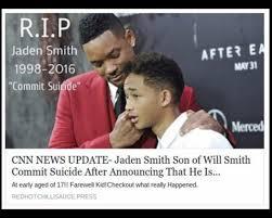 Il figlio di Will Smith si è suicidato