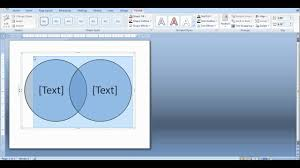 Make A Venn Diagram In Powerpoint How To Create A Venn Diagram In Word And Powerpoint Youtube