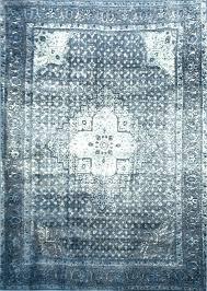 indigo faded persian rug oriental blue