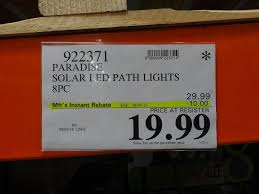 solar patio lights costco. Paradise Solar LED Pathway Lights Costco Patio N