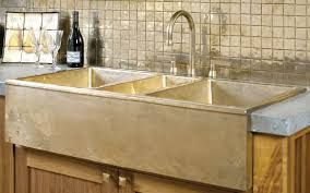 a front farmhouse sink ks4422 with the deck mount faucet dmf with small olympus levers lb60 gooseneck spout p603 and small bells p301