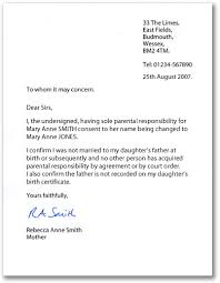 example of letter 1 for sole parental responsibility consent letter for children travelling abroad