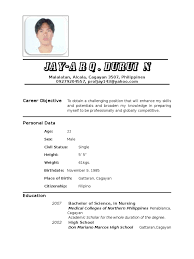 bunch ideas of filipino nurse resume sample with additional